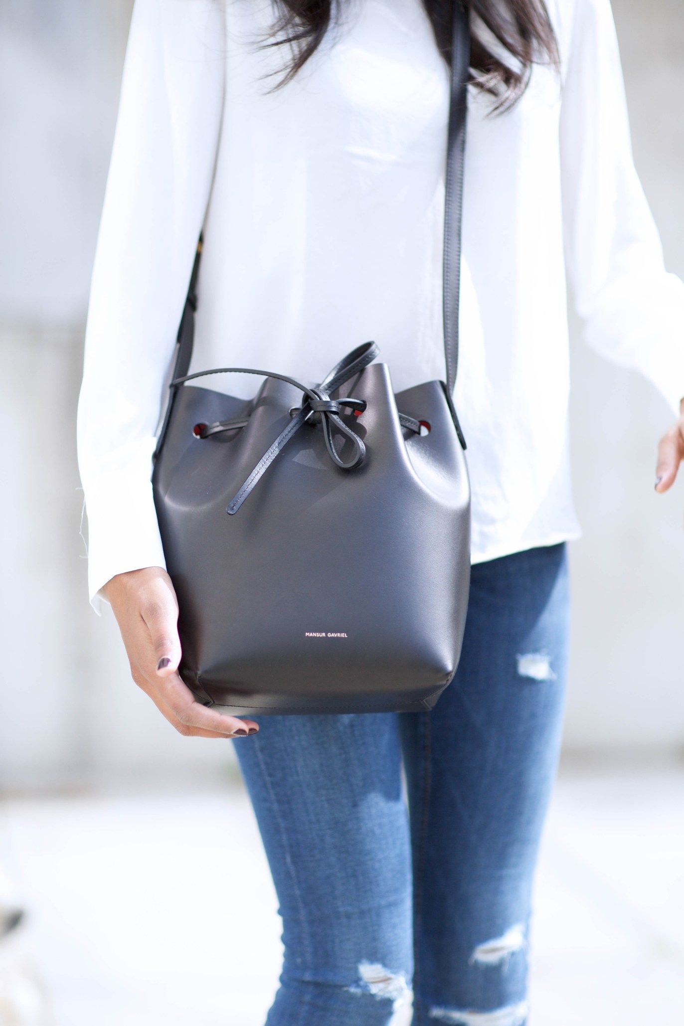 Mansur Gavriel Bucket Bag Steffy S Style