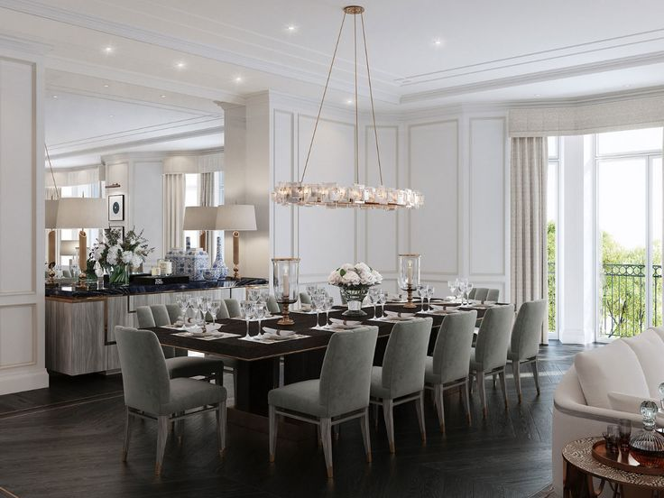 Find This Pin And More On Knightsbridge Design   Light. Modern And Bright Dining  Room. Perfect Combination Between The Large Wall Mirror ...