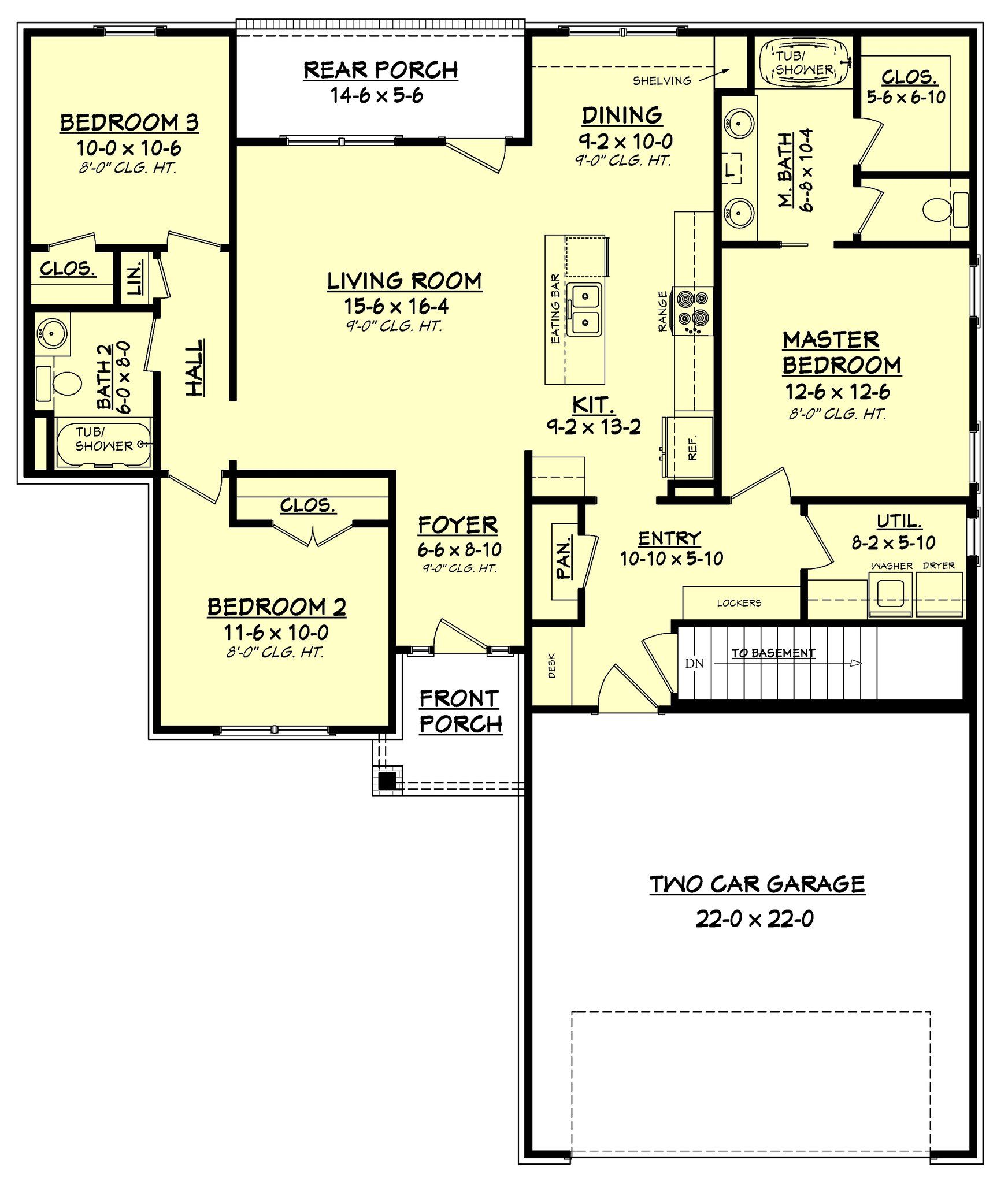 This Wonderful 3 Bedroom 2 Bath Home Is Packed With Features House Plans Ranch House Plans 1500 Sq Ft House