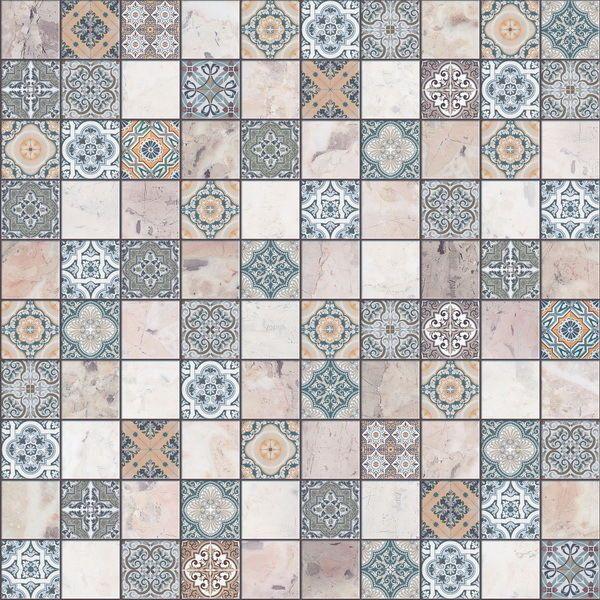 Schon Details Zu Bodenfliese Terrazzo Blau 30x30cm Orientalisch Mosaik Optik #  15,00 U20ac/m² | Shabby