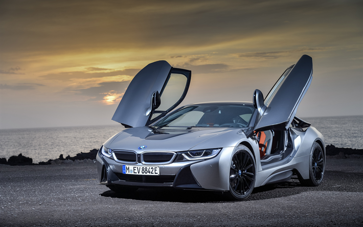 Download Wallpapers Bmw I8 Roadster 4k 2018 Cars Electric Cars