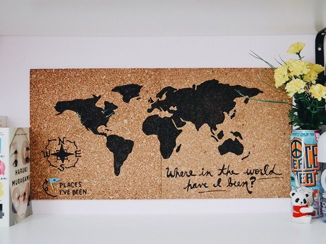Corkboard world map inspinkle diy projects pinterest corkboard world map inspinkle gumiabroncs Choice Image