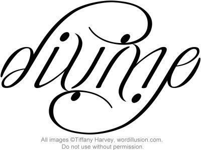 Divine Ambigram Tattoo Ambigram