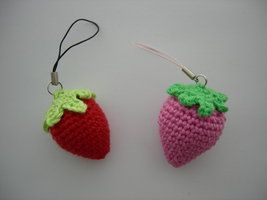 Strawberry phone charms by Poolvos