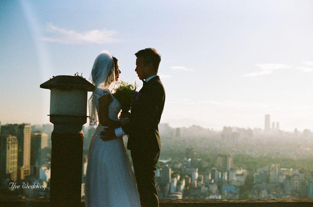ảnh cưới, wedding, máy film, tự chụp