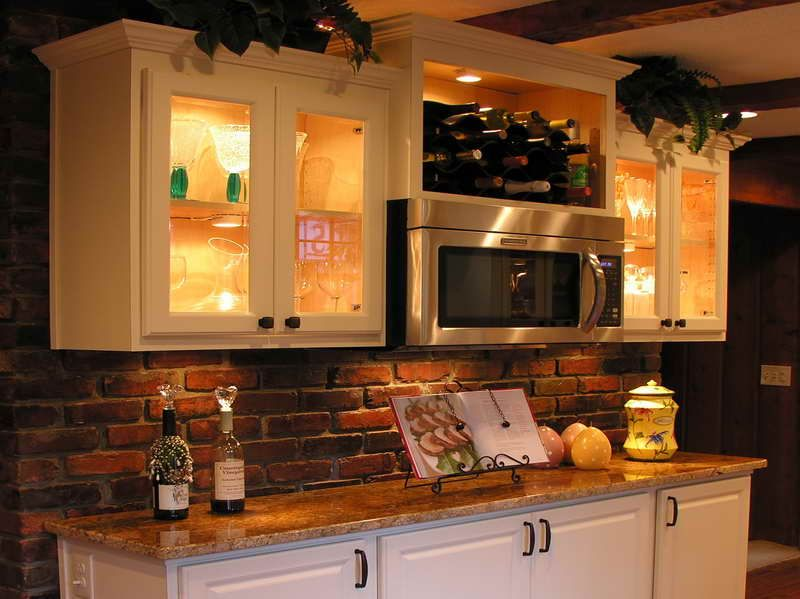 Galley Kitchen Ideas Makeovers remove cabinet doors over stove & make wine bottle area!! must do