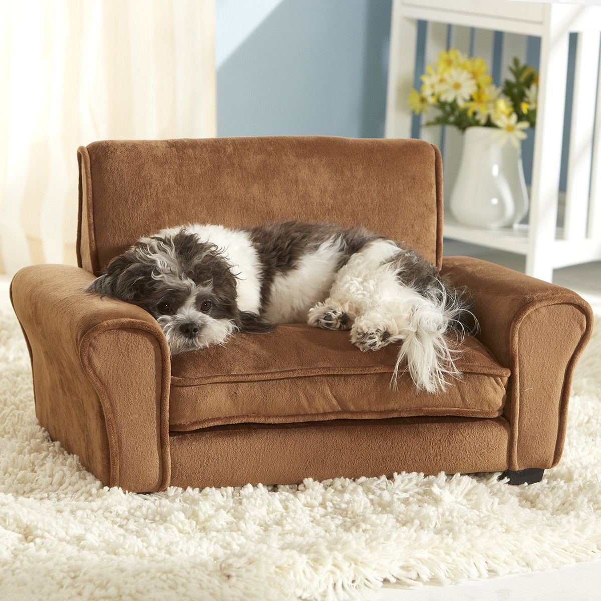 Ultra Plush Club Chair Dog Couch Pet Couches Dog Bed Mat