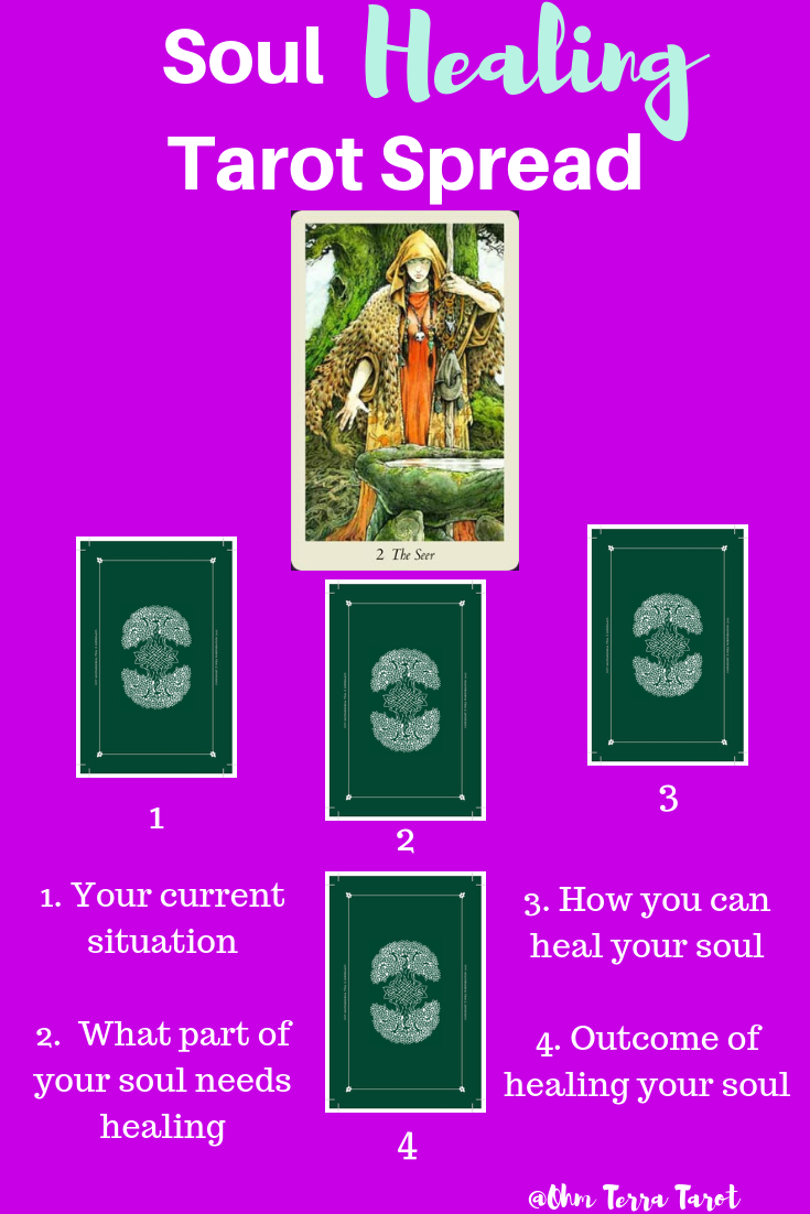 See what parts of your soul need some attention with this soul healing tarot spread. This works well with the Wildwood Tarot Deck, but any deck that you connect with will work well.