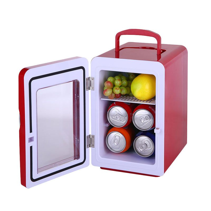 4l kleine compacte koelkast koud en hot dualpurpose mini