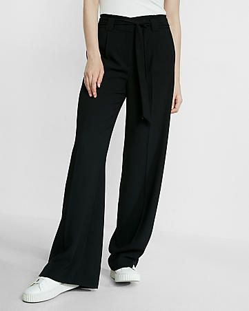 ec108431116c R29 editor pick high waisted sash tie wide leg pant | Clothing ...