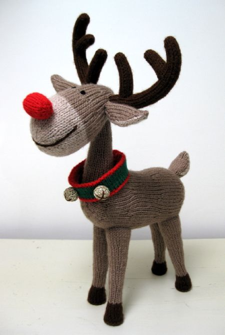 Reindeer Knitting Decorative Fun Pinterest Knitting