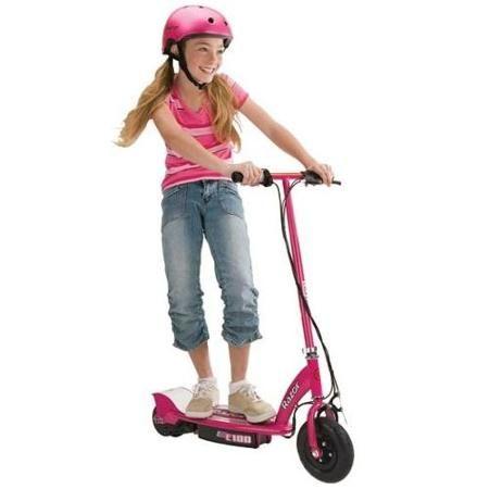 Razor E100 24V Motorized Electric Girls Scooter (Pink ...