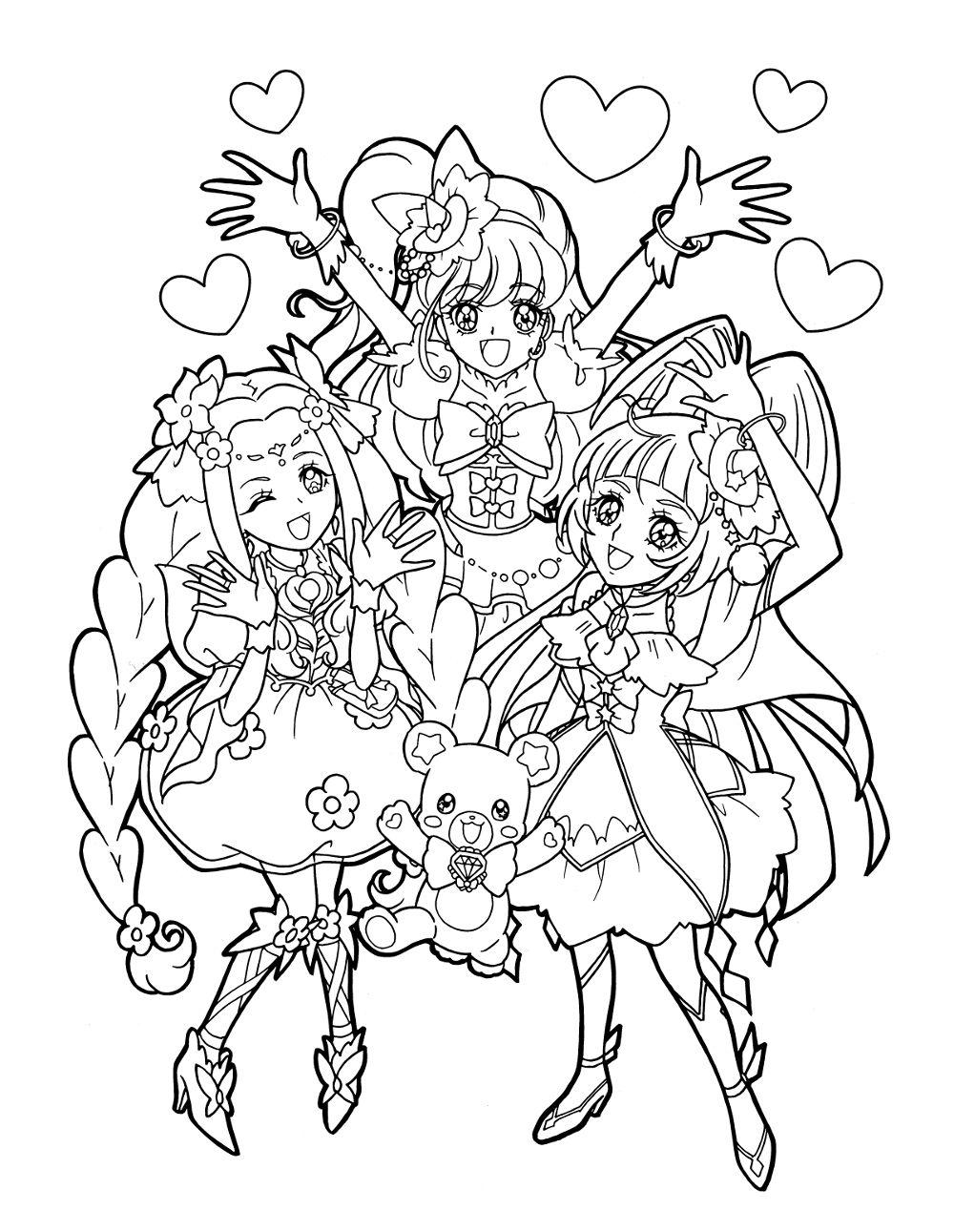 Pretty Cure 塗り絵 Dibujos