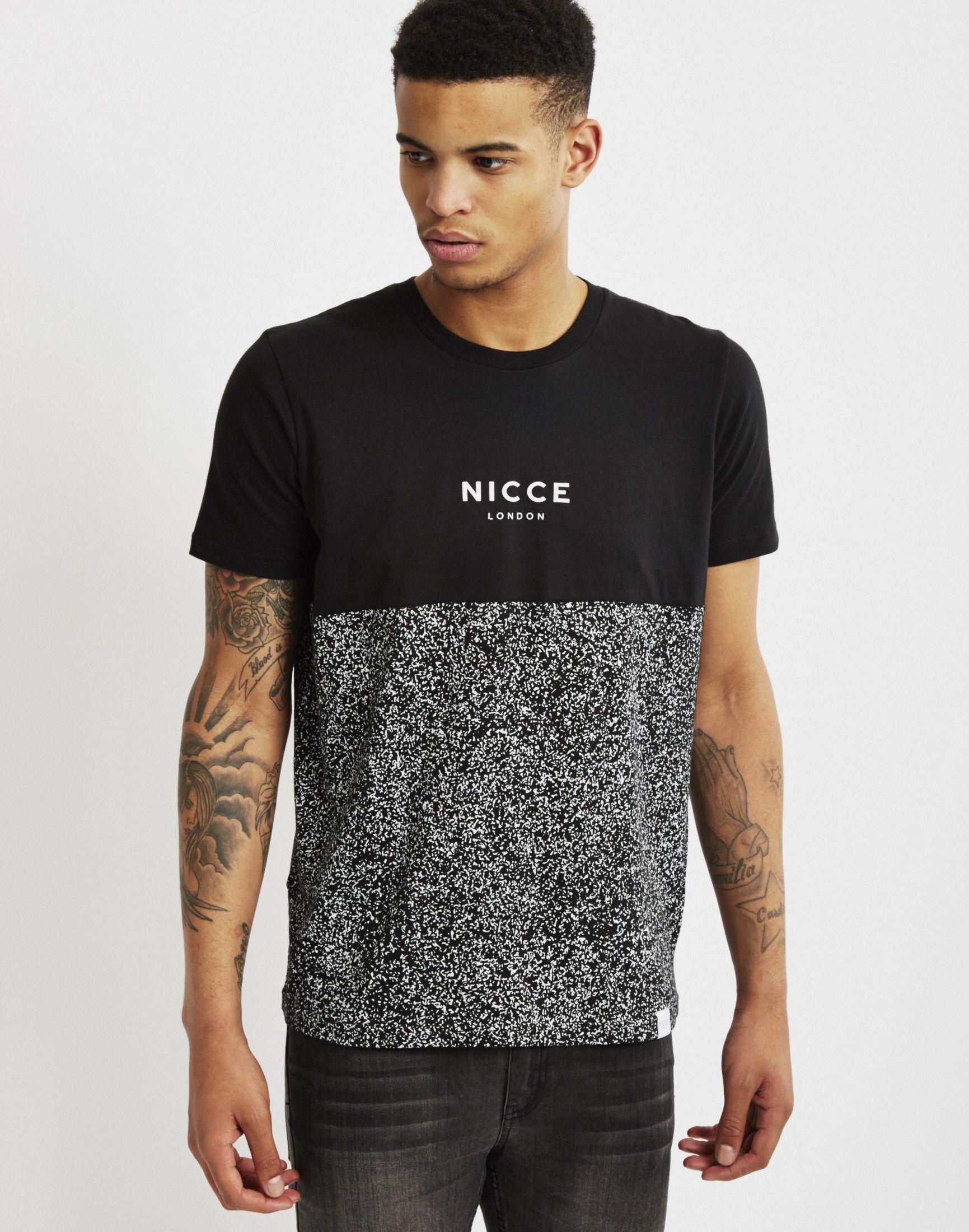 Nicce White Noise Raglan T-Shirt - D8738