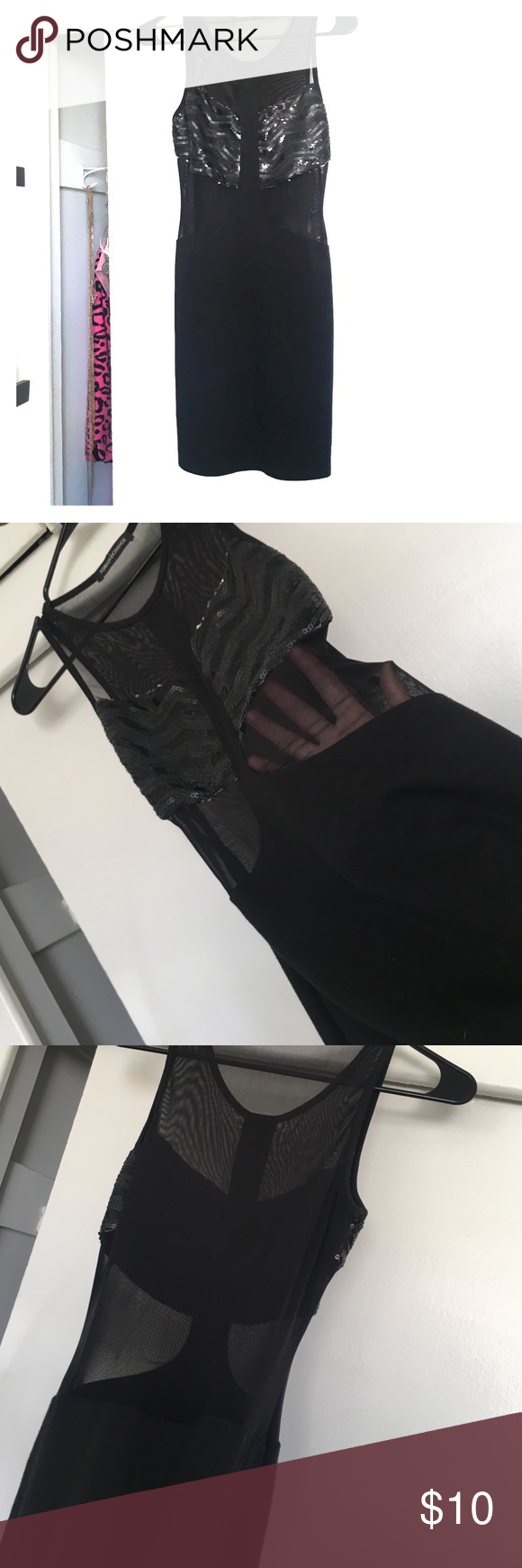 Black mesh dress black mesh and sequin dress so cute most of the