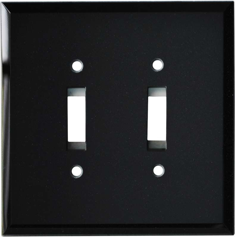 Glass Mirror Black Switch Plates Outlet Covers Rocker Switchplates Glass Mirror Plates On Wall Black Mirror