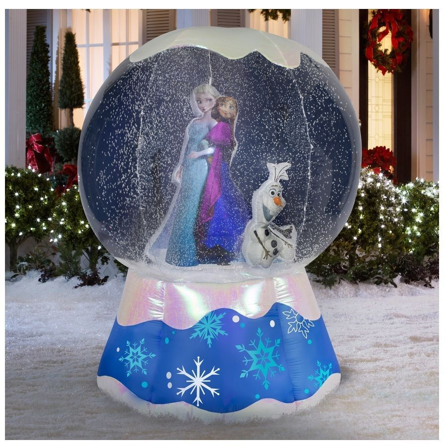 8 Ft CHRISTMAS VACATION SNOW GLOBE Airblown Inflatable PROJECTS VIDEO ON GLOBE