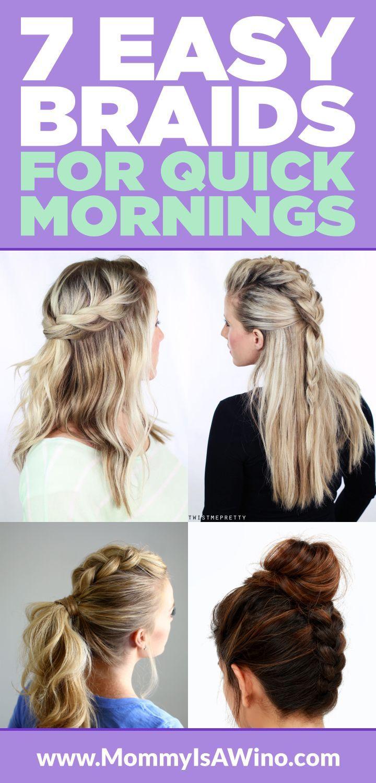 easy braids for quick mornings braids tutorial easy braids