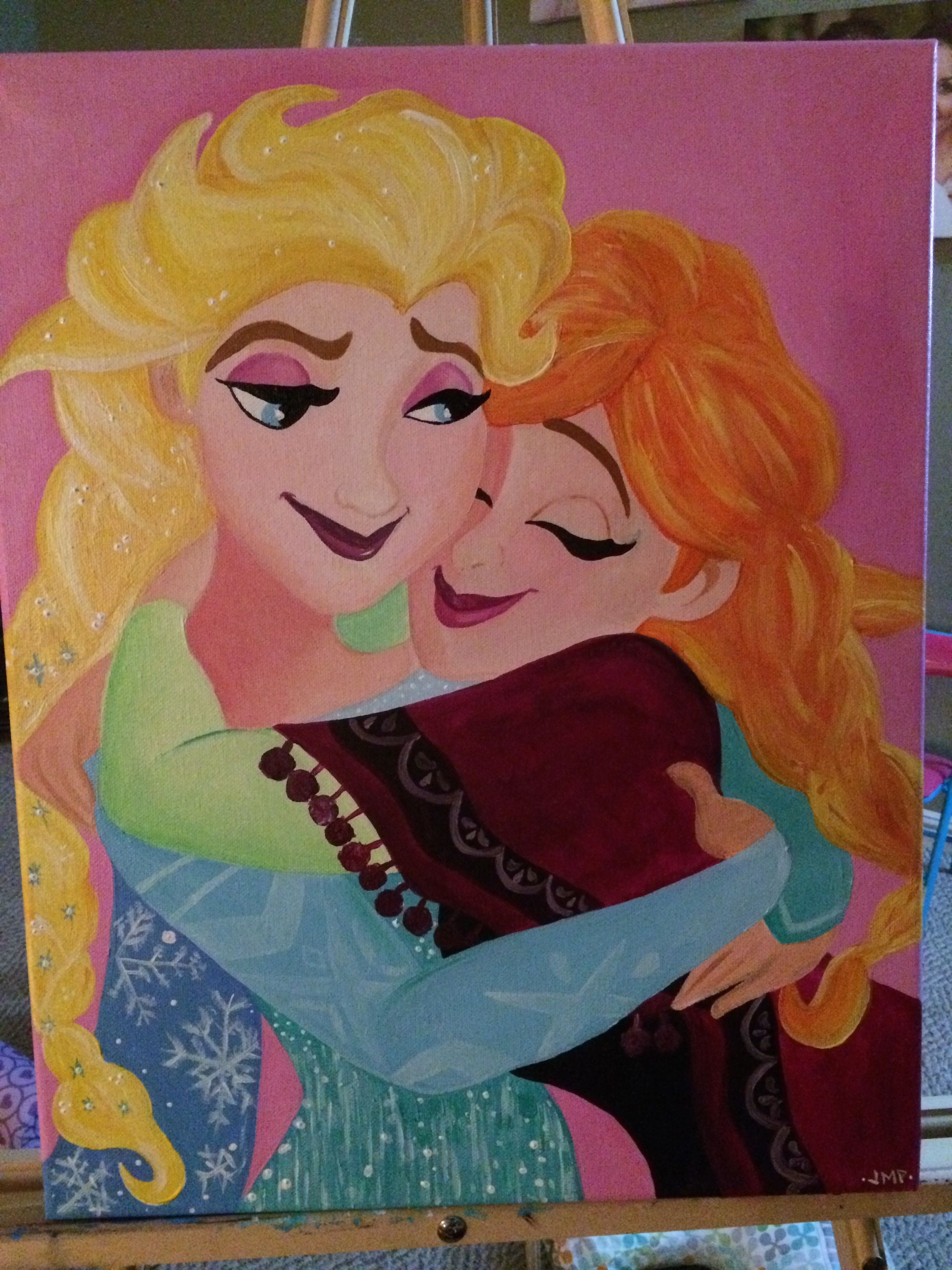 Custom Painting Sisters By Fate Friends By Choice Creative Arts And Crafts Freelance Graphic Design Creative Area