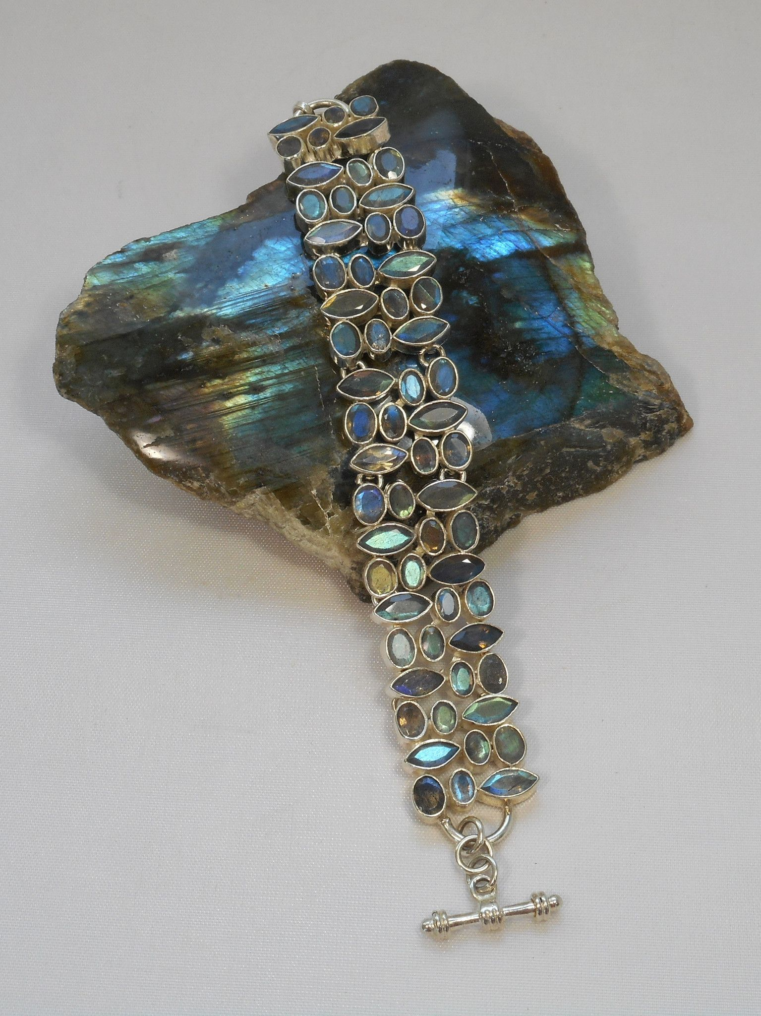Faceted Labradorite Bracelet Labradorite Jewelry