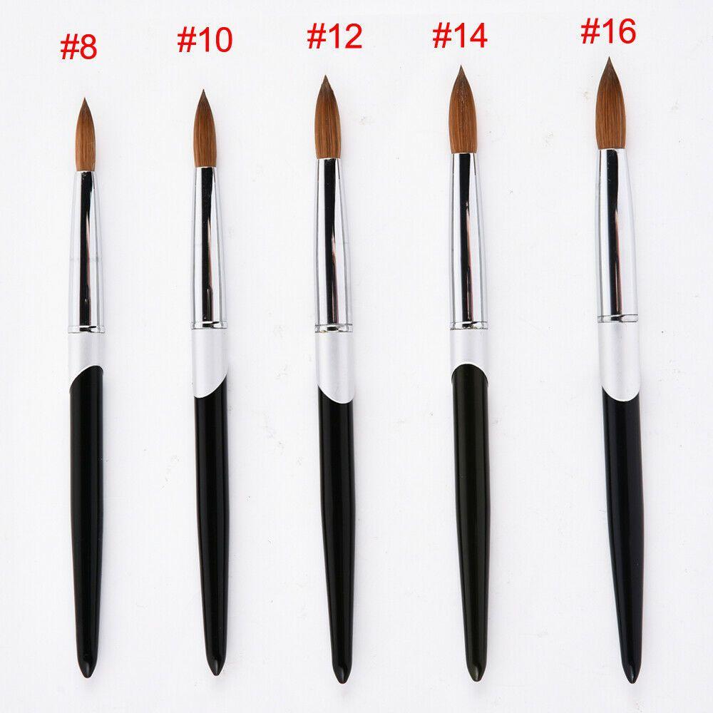 Pro Kolinsky Brush Sable Acrylic Nail Painting Brush Metal Handle Nail Tools Uk Metalic Nails Metalicnails In 2020 Black Metal Art Acrylic Nail Brush Acrylic Nails