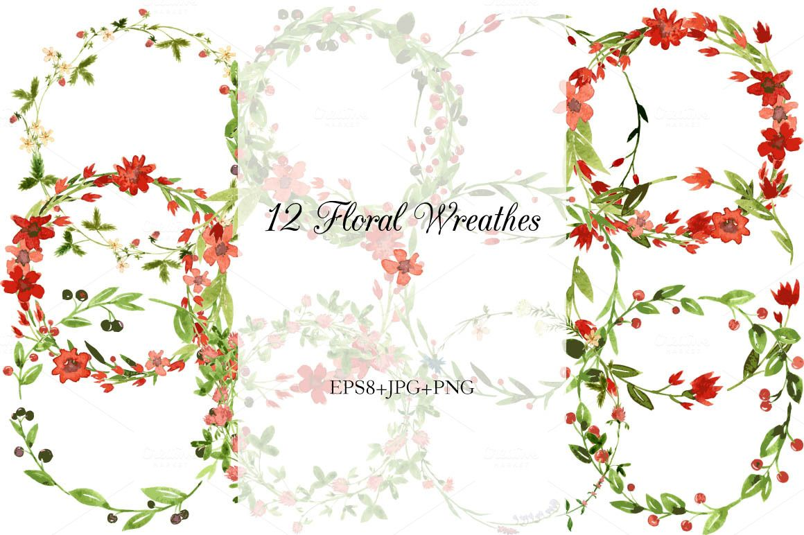 Biggest watercolor floral set by cat_arch_angel on Creative Market
