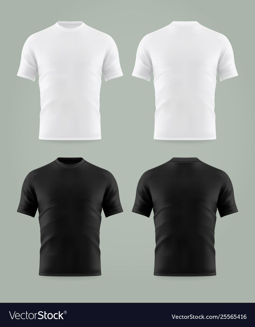 Download Set Isolated Black And White T Shirt Template Vector Image Aff Black White Set T Shirt Design Template Free T Shirt Design Black And White T Shirts