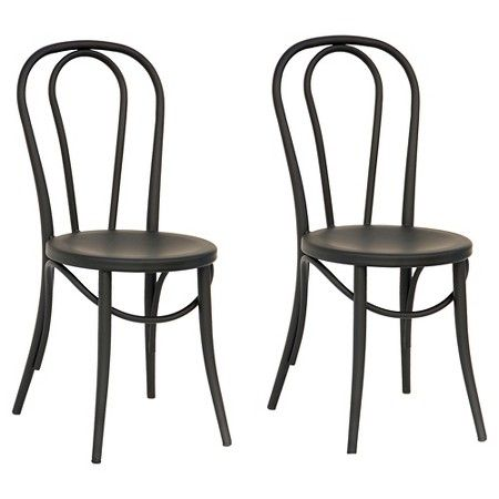 Metal Kitchen Chairs Target Swivel Lounge Chair Australia Emery Bistro Set Of 2 Threshold Home In