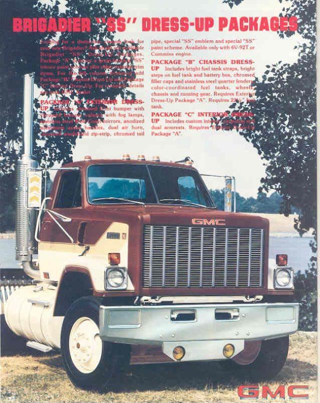1981 Gmc Brigadier 8000 9500 Truck Brochure Wx4561 Yafd3w Ebay