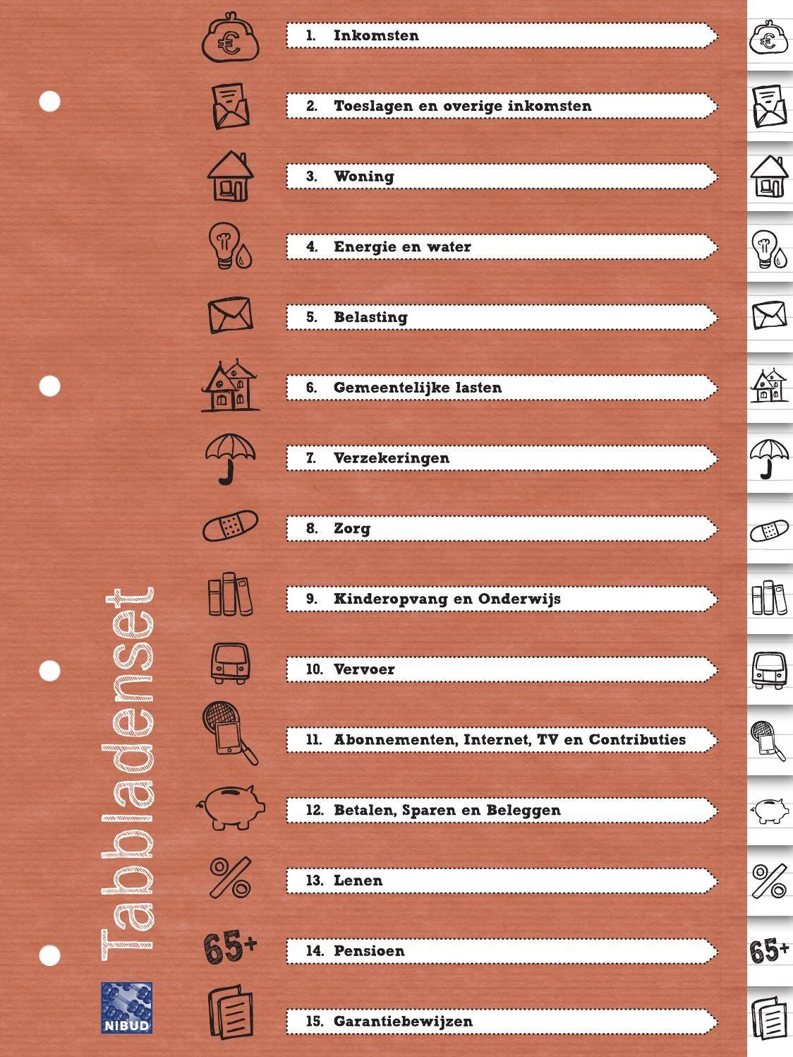 Wonderbaarlijk Nibud tabbladenset (met afbeeldingen) | Huis schoonmaken checklist FL-01