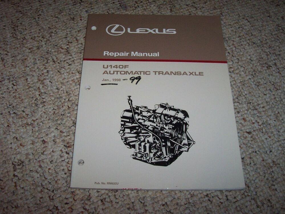 1999 Lexus Rx300 Rx 300 U140f Transmission Service Repair Manual 2000 2002 2003