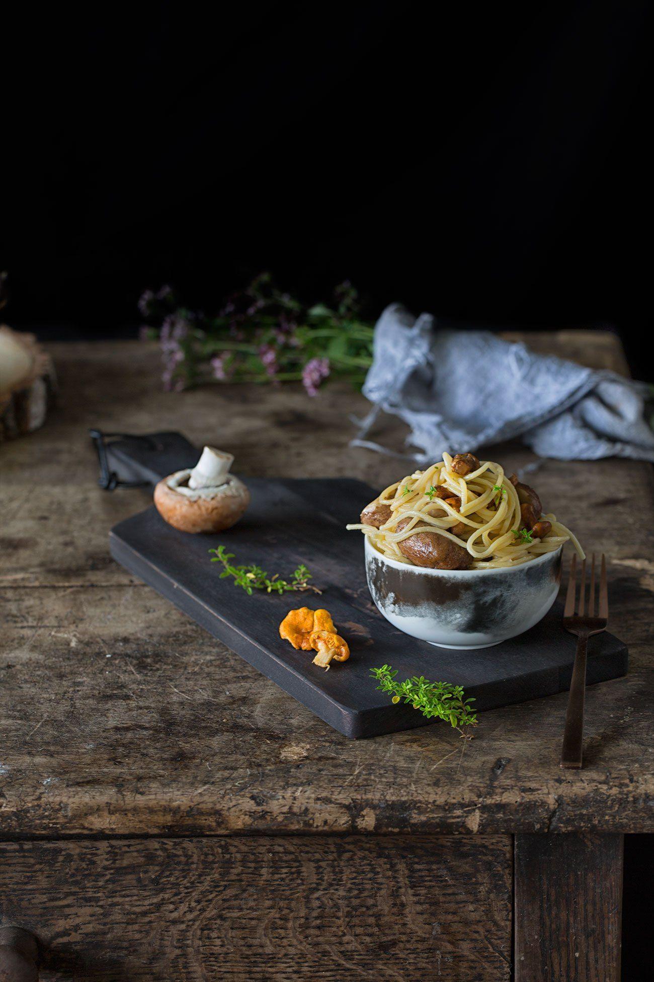 Spaghetti Aglio E Olio Mit Pilzen Rezept Mit Bildern