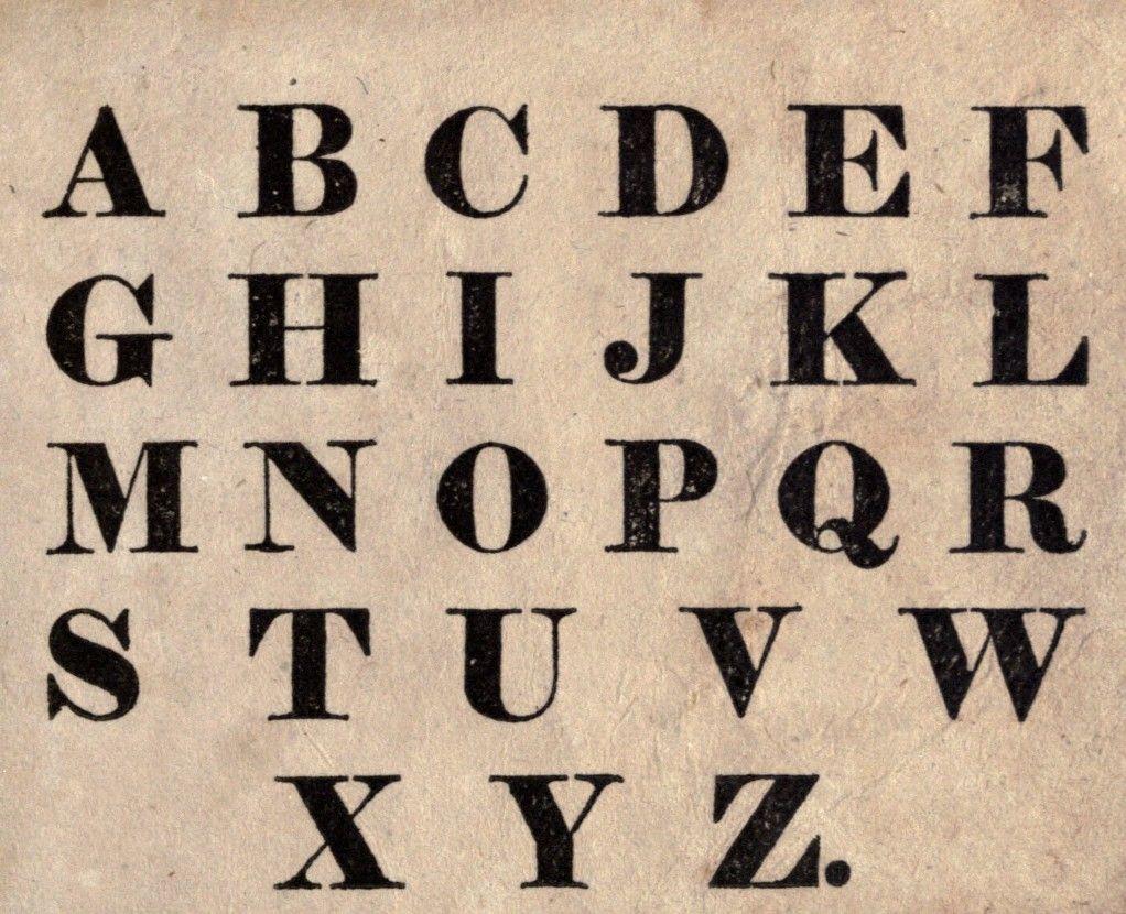 Typography - Font - Juvenile - Alphabet - block print ...