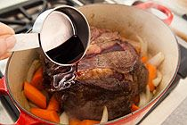 Easy & yummy Le Creuset pot roast recipe.  Next time I'll add potatoes:)