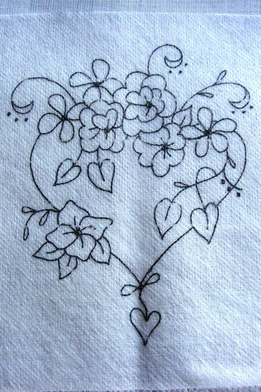 Show details for Freebie - Flower Filled Heart Guest Towel ...