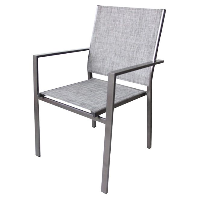 Stackable Patio Dining Chair   Manhattan   Taupe