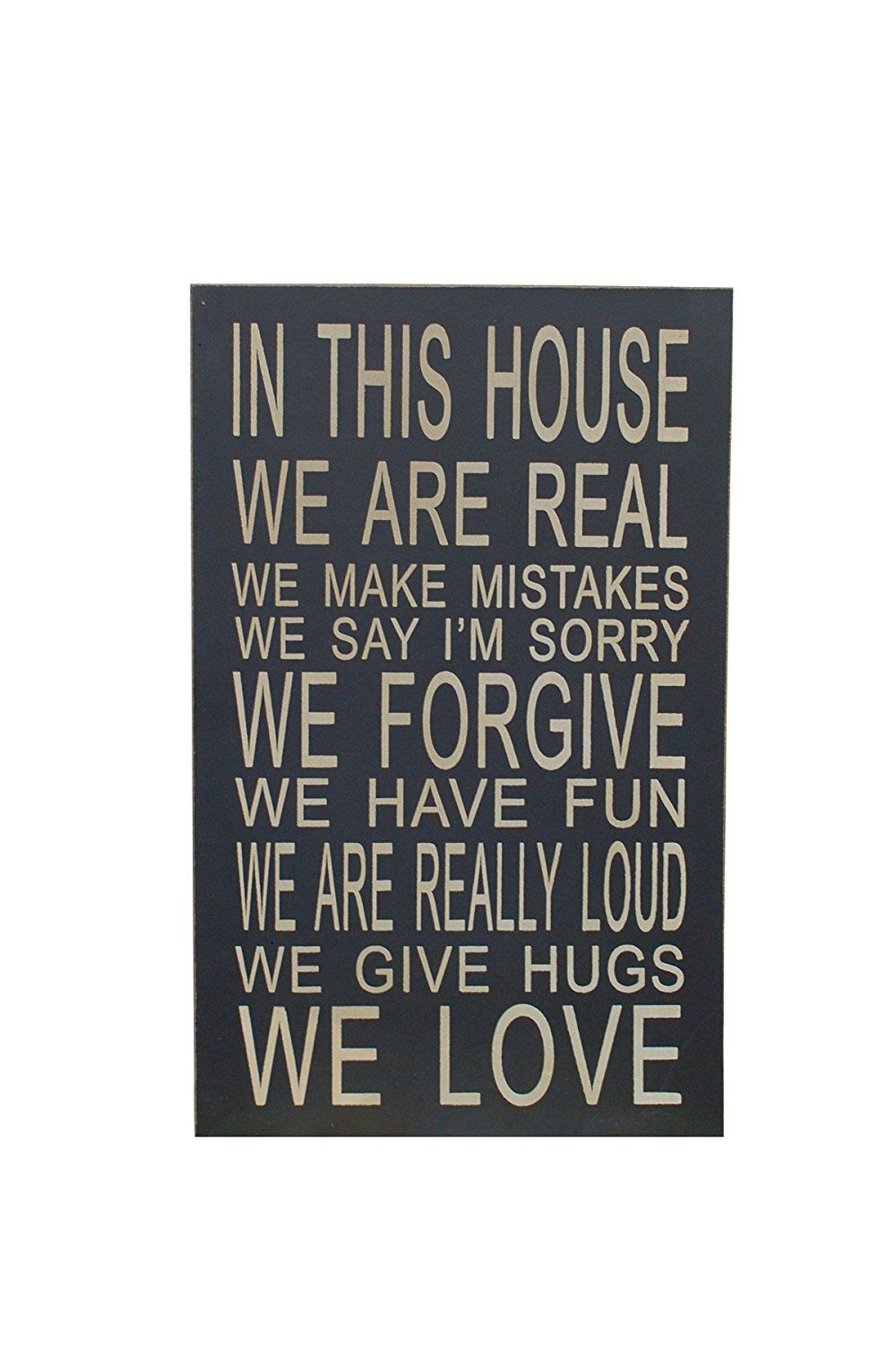 Attraction Design In This House Wood Chunky Wisdom Sign, 13' *** Check out this great image  : Home Decorative Accessories