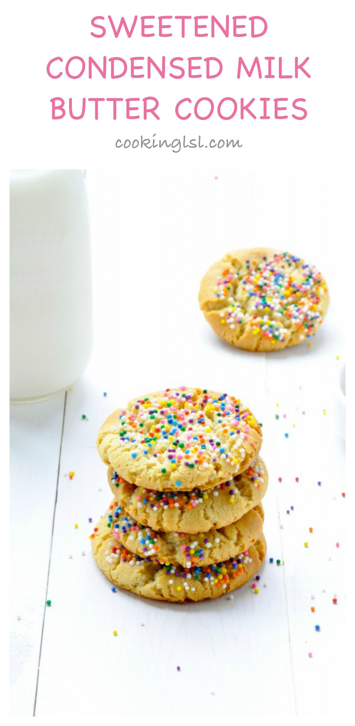 Sweetened Condensed Milk Three Ingredient Butter Cookies Recipe Sweetened Condensed Milk Recipes Condensed Milk Cookies Cookie Recipes