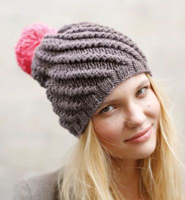 148ba1dcb0 patron tricot bonnet pompon | bonnet et snood | Bobble hats, Knitted ...