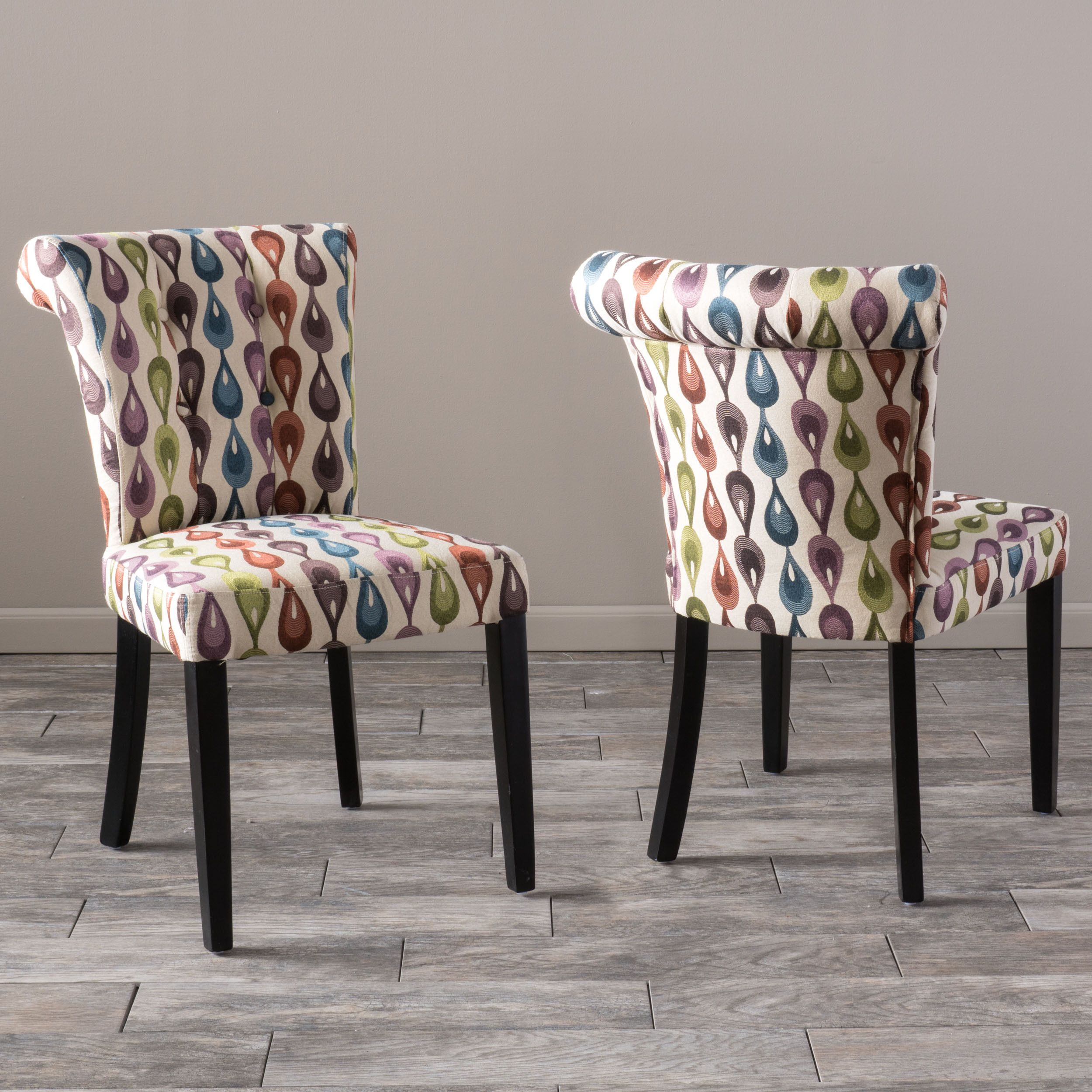 Christopher Knight Home Orchard Lovebird Fabric Dining Chair Set