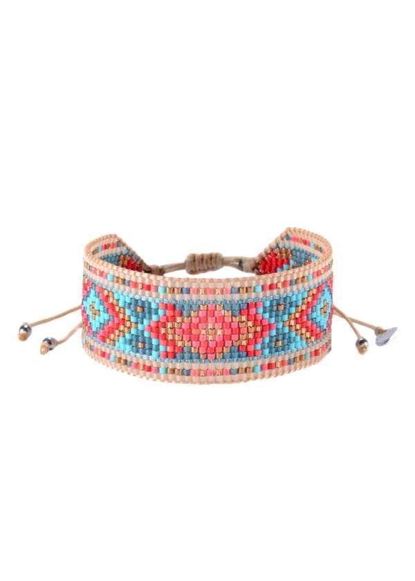 DIAMOND RED CORAL TURQUOISE | Faire un bracelet brésilien, Modèles de bracelets en perles, Faire ...