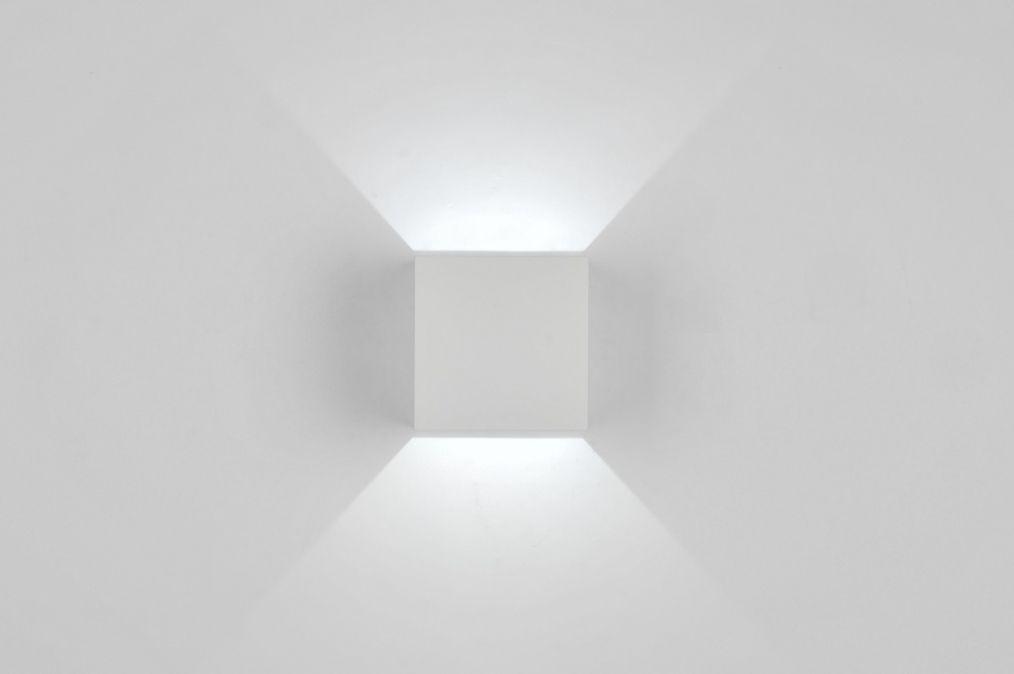 wandlamp 71335: modern, design, aluminium, wit