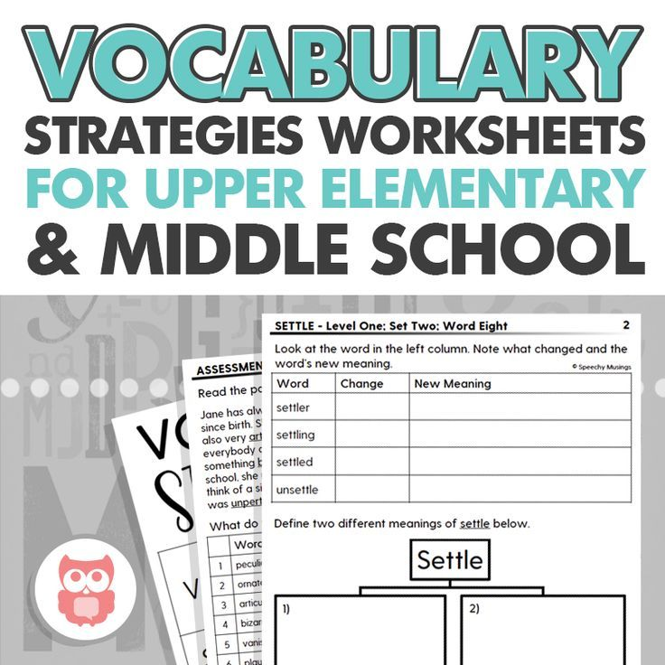 Upper Level Vocabulary: Guided Worksheets + Assessment for Speech