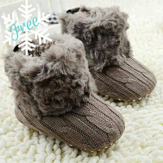 Hot Baby Warm Shoes,Toddler Infant Winter Snow Boots Soft Knitted Crib Shoes