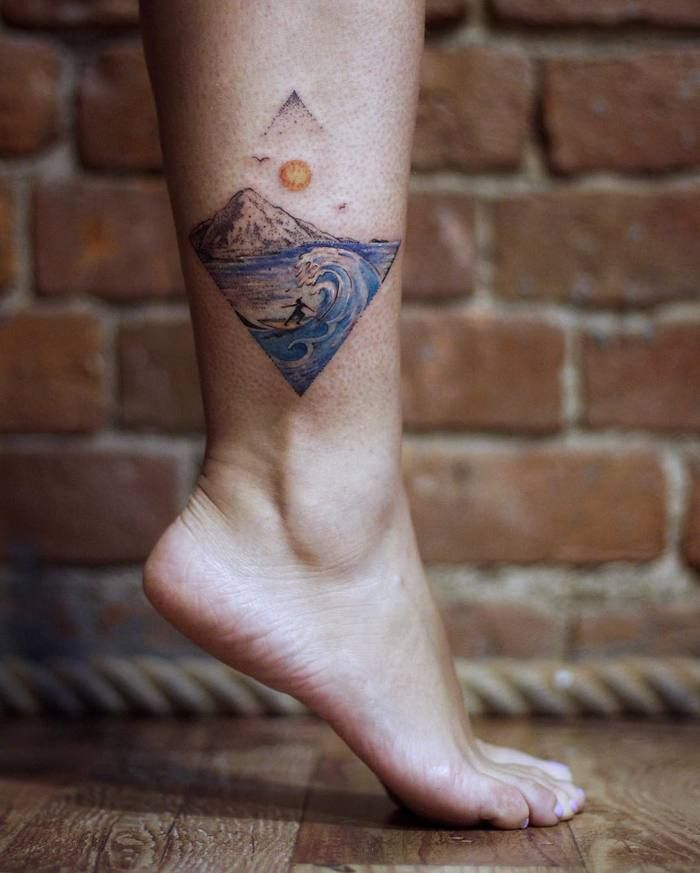 b571882c4f811 43 Outstanding Wave Tattoo Designs for Ocean Lovers | Tattoos ...