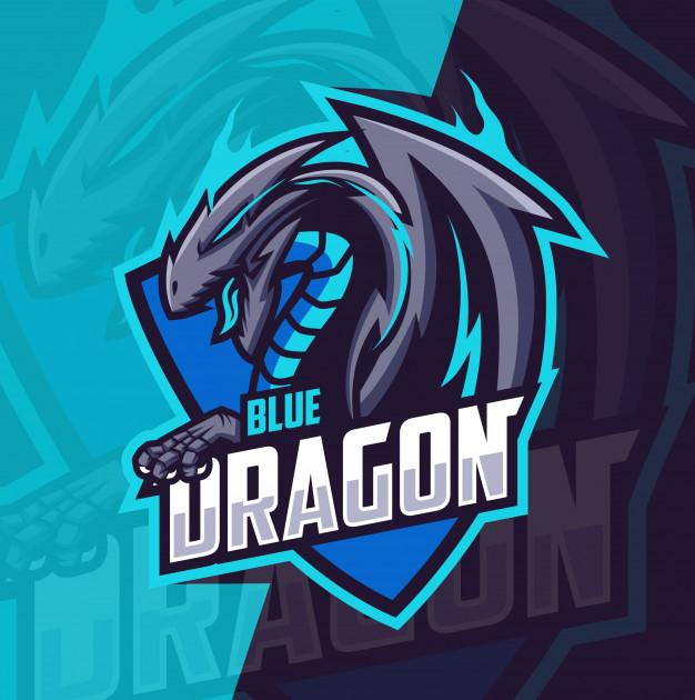 Blue Dragon Mascot Esport Logo Premium Vector Di 2020 Ilustrasi Karakter Logo Keren Desain Logo