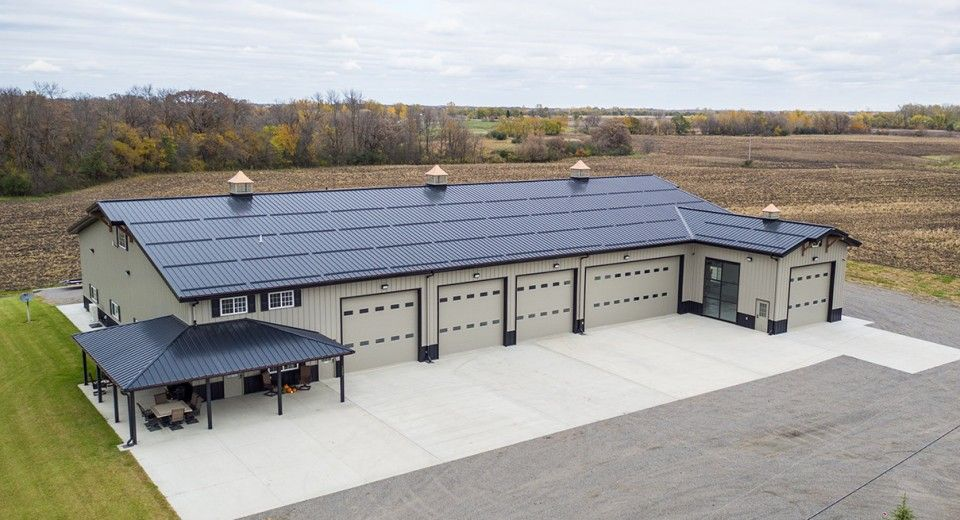 Learn About The Numerous Options Morton Buildings Offers In Its Metal And Steel Garages Everything Metal Building Homes Metal Garage Buildings Pole Barn Homes