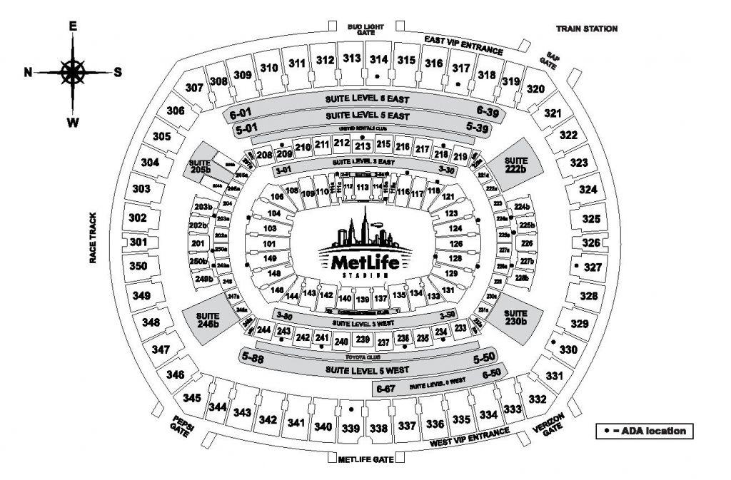 28 Skillful Metlife Stadium Seating Chart Seat View inside