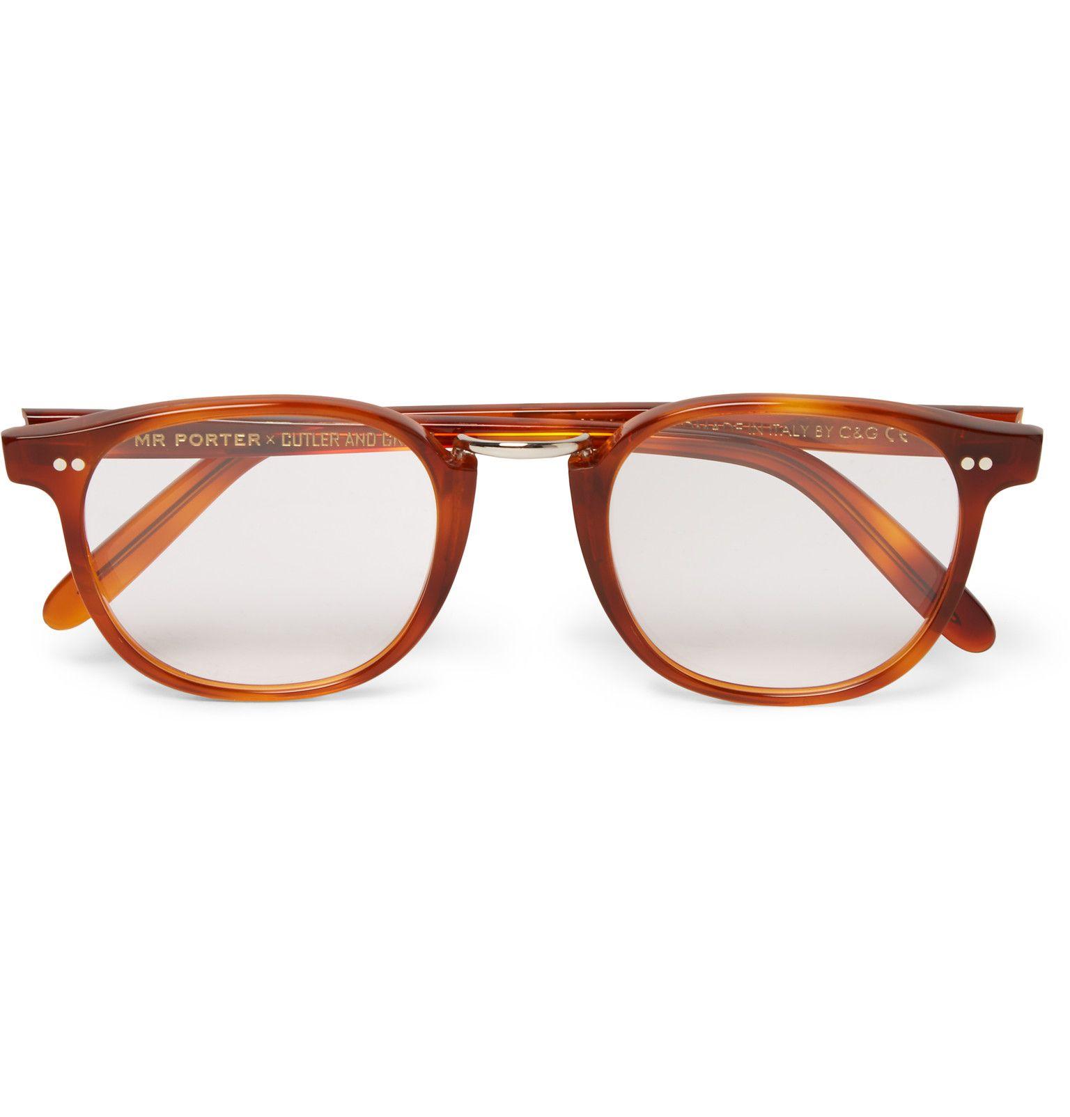 Cutler and Gross Round-frame Tortoiseshell Acetate And Gold-tone Sunglasses - Tortoiseshell 3GcMReNY5