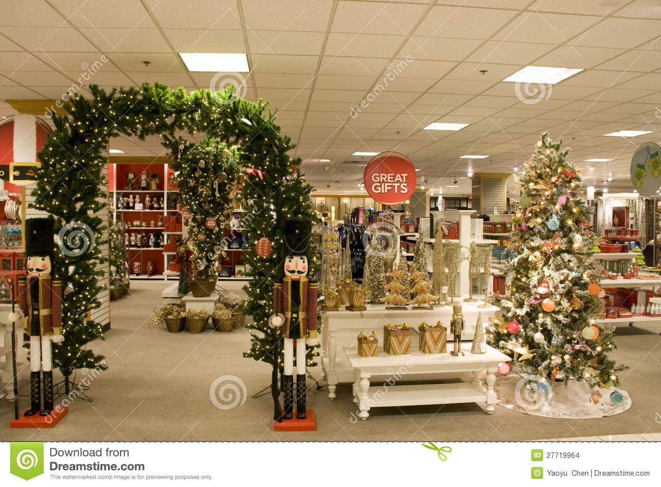 Department Store Christmas Decorations Traditional Holiday Decor